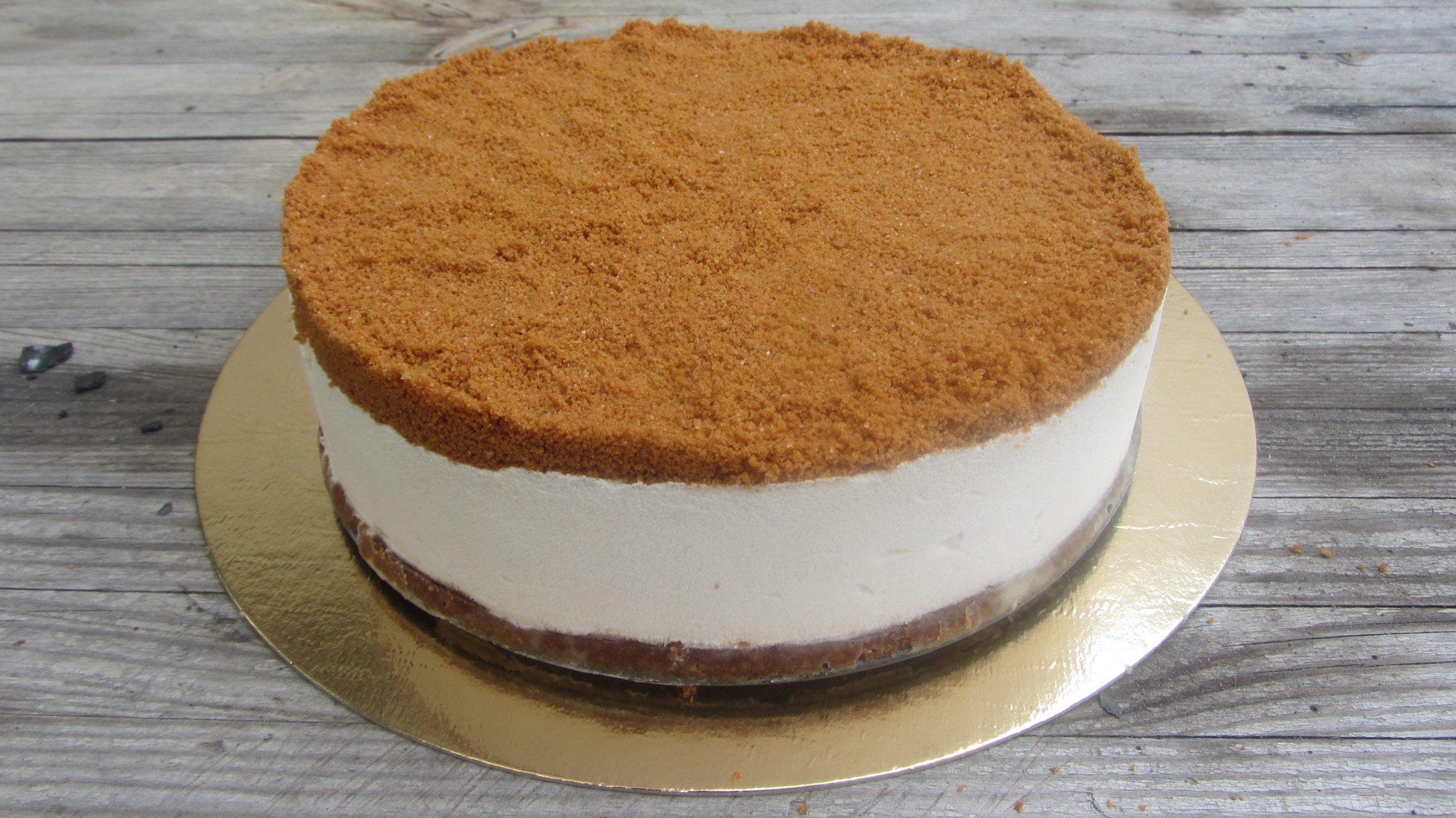 עוגת גבינה ופירורי לוטוס