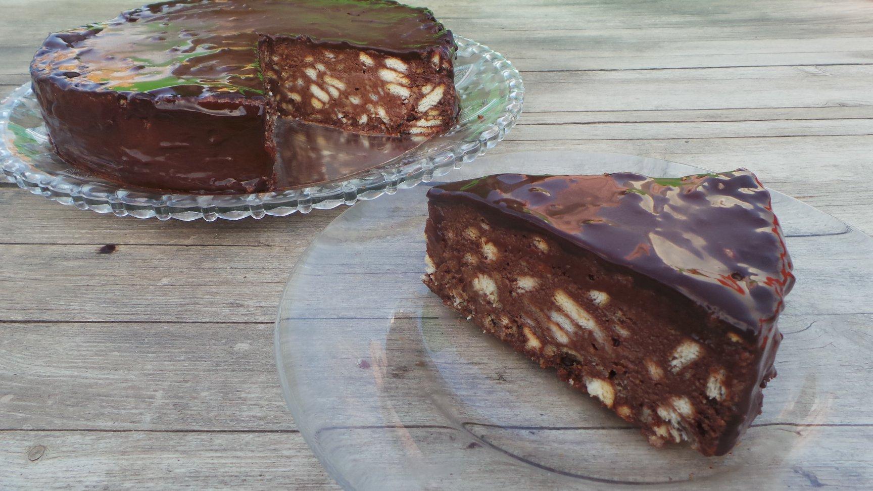 עוגת שוקולד וביסקוויטים ללא גלוטן